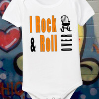 Rock and Roll Baby Funny Infant Shirt Original Design Humorous Newborn Tee Music Shirt 0 6 12 18 24 Month Short Sleeve One Piece