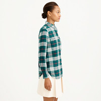 BOYFRIEND FLANNEL SHIRT IN BLUEGRASS PLAID