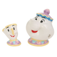 Disney Beauty And The Beast Mrs. Potts & Chip Salt & Pepper Shaker Set