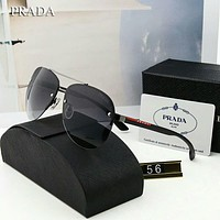 Prada Trending Women Men Stylish Summer Sun Shades Eyeglasses Glasses Sunglasses Black I-A-SDYJ