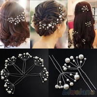 Fashion New Wedding Bridal Bridesmaid Pearls Hair Pins Clips Comb Headband = 1932557060