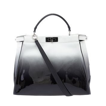 2015 Spring/Summer Fendi Peekaboo Large Ombre Patent Leather and Suede Tote