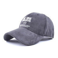 Grey Suedette Embroidered Detail Cap