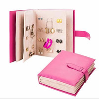Jewelry Book Earring Storage For 84 Pairs