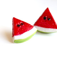Super Cute Watermelon Juicy Fruit Hair Accessory. Lovely Watermelon Hair pin for Summer Season. Adorable Fruit Hair Tie for her.