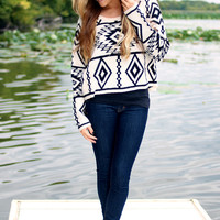 Out of the Boxy Crop Sweater