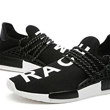 bashy fashion X Pharrell Williams NMD hu Human Race New Black/White Golf Tennis Sneakers Shoes