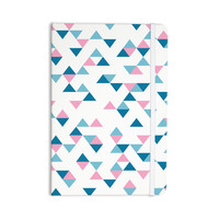 """Project M """"Triangles Pink"""" Blush Blue Everything Notebook"""