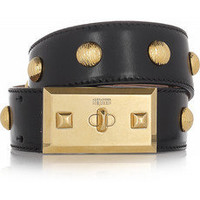 Alexander McQueen | Studded leather belt | NET-A-PORTER.COM