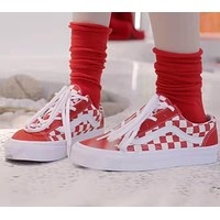 VANS Canvas Old Skool Checkerboard Flats Shoes Sneakers Sport Shoes