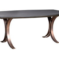 "Hailey 72"" Dining Table, Bronze"