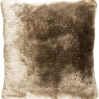 Innu Throw Pillow Brown