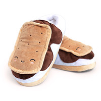 Smores USB Heated Plush Slippers