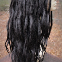 Espresso Brown Lace Front Synthetic Dreadlock Wig * Synthetic Lace Front Custom Wig * Festival * Fairy Kei * Faerie *