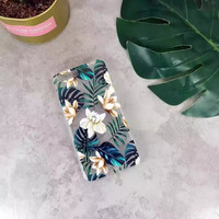 Fashion Plants Coffee Flower Green Leaves Case For iphone 7 Case Soft Clear Back Cover For iphone 7 6 6S Plus Phone Cases Coque -0405