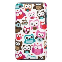 Colorful owl kids pattern ipod case iPod touch cases