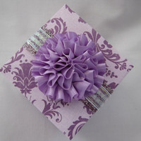 Wedding favor gift box - Wedding place card holder - gift box - handmade - paper - wedding - lavender - purple