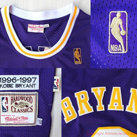 Rare Kobe Bryant 8 Los Angeles Lakers New Hardwood Classic Nba Jersey La Lakers Basketball Jersey All Stitched and Sewn Any Size S - XXL