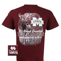 MSU Mississippi State Bulldogs Gametime Deer Unisex Bright T Shirt