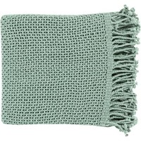 Tibey Open Weave Throw Blanket - Aqua