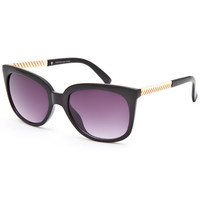 Full Tilt Swirl Sunglasses Black One Size For Women 25748410001