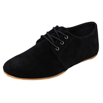 Men Fashion Suede  Low Help Breathable  Casual Shoes