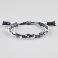 Rose Gonzales Lola Bracelet Black/Silver One Size For Women 24175614501