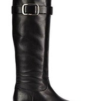 Salvatore Ferragamo Womens Luxor Knee High Leather Boots