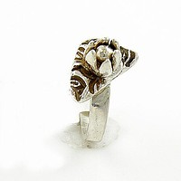 Lotus Flower Fine Silver Ring