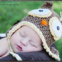 PDF Owl Hat Crochet Pattern ALL sizes Infant Baby by RAKJpatterns