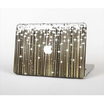 """The Gold & White Shimmer Strips Skin Set for the Apple MacBook Air 11"""""""
