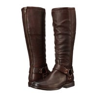 Frye Phillip Harness Tall Dark Brown Soft Antique - Zappos.com Free Shipping BOTH Ways