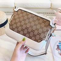 GUCCI New fashion more letter print leather shoulder bag women