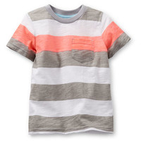 Jersey Striped Pocket Tee