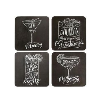 Cocktail Coasters - Set of 4