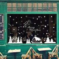 Christmas decorations wall stickers Merry Christmas decoration
