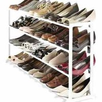 NEW Rack Shoe Organizer Storage Tower Space 20 Tier Pair Shelf Standing Closet
