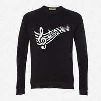 Notes music 4 fleece crewneck sweatshirt