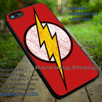 The Flash Justice League Logo iPhone 6s 6 6s+ 5c 5s Cases Samsung Galaxy s5 s6 Edge+ NOTE 5 4 3 #cartoon #batman #wonderwoman #theFlash #superheroes dt