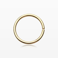 Gold PVD Basic Steel Bendable Nose Hoop