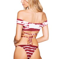 Frankies Shiloh Bottom - Maroon Tie Dye