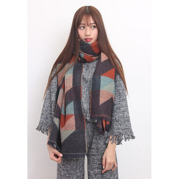 Ikat Wooly Scarf