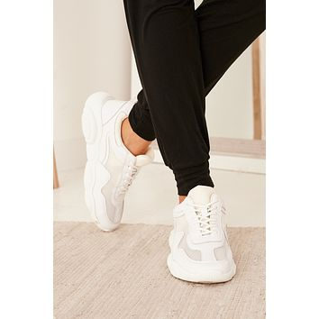 New Elements Chunky Sole Sneaker (White)