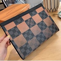 LV Vogue Women Cosmetic Bag Handbag Men Business Bag Louis Vuitton Clutch Bag