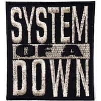 System of a Down heavy metal punk rock band Iron On Patches Silver # WITH FREE GIFT