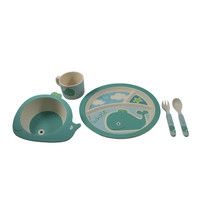 5 Piece Wiley The Whale Bambooware Kids Blister 5 Pieces /Sold As 1 Sets