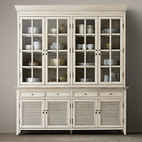 Shutter Wide Closed Glass Sideboard & Hutch