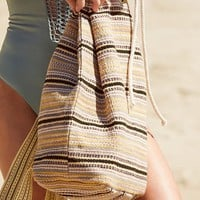 Striped Cotton Drawstring Backpack | Urban Outfitters