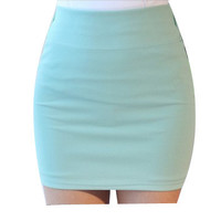 Summer Candy Color Mini Skirt
