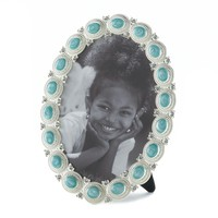 Sea Cabochon Oval Picture Frame 5X7